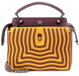 Fendi Dotcom Click Suede And Leather Shoulder Bag
