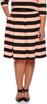 Boutique + Ashley Nell Tipton for Boutique+ Box Pleat Skirt - Plus