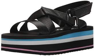 Rocket Dog Women's Jarvis Strapper Fabric/Smooth PU Wedge Sandal
