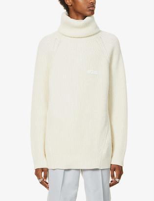GCDS Turtleneck wool-blend jumper
