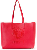 Versus large embossed logo tote - women - Calf Leather - One Size