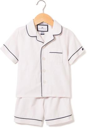 Petite Plume Classic Pajama Set w/ Contrast Piping, Size 6M-14