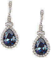 Givenchy Pave Blue Stone Drop Earrings