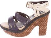Rochas Leather Platform Sandals