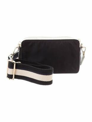 Barneys New York Leather-Trimmed Nylon Shoulder Bag Silver