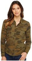 Splendid Camo Print Double Cloth Shirt Women's Long Sleeve Button Up