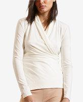 Lauren Ralph Lauren Petite Faux-Wrap Jersey Shirt