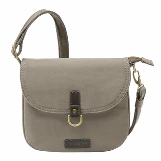 Travelon Anti-Theft Courier Saddle Crossbody Bag - Gray