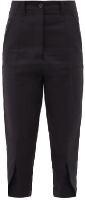 colville High-rise Knee-patch Cotton-blend Trousers - Black