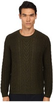 Vince Cashmere Marled Cable Degrade Crew