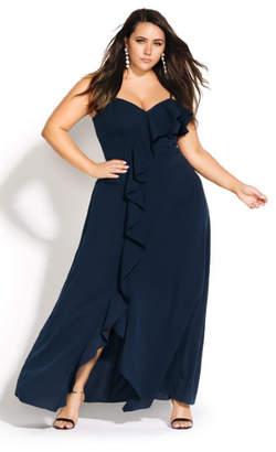 City Chic Catalina Maxi Dress - navy
