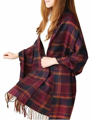 Yutdeng Women Scarves Winter Scarf Pashmina Shawl Wrap Long Soft Warm Tartan Check Wraps Wool Spinning Tassels Shawl Stole Scarf Women