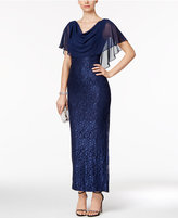 Jessica Howard Lace Capelet Gown