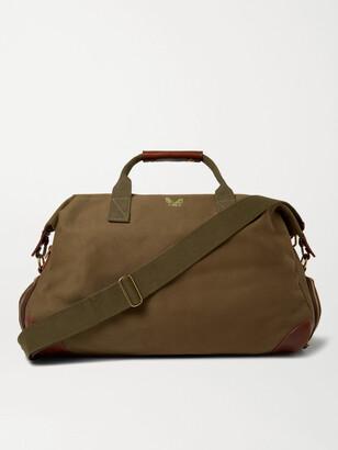 Bennett Winch Weekender Leather-Trimmed Cotton-Canvas Holdall
