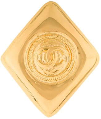 Chanel Pre Owned CC diamond brooch