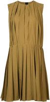 Marni pleated flared dress - women - Cotton - 36
