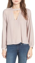 Lush Women's Cutout Blouse