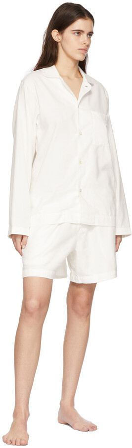 Thumbnail for your product : Tekla White Flannel Pyjama Shorts