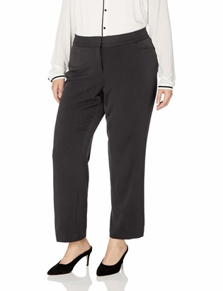 Rafaella Women's Plus Size Curvy Fit Short Gaberdine Trouser