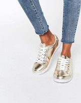 Missguided Gold Metallic Sneaker