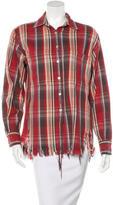 R 13 Shredd Flannel Top