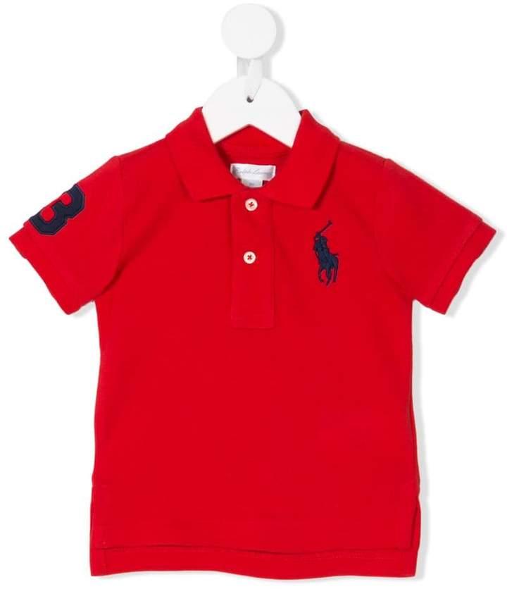 Ralph Lauren Kids embroidered logo polo shrit
