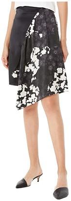 McQ Short Cut Up Komari (Black/White) Women's Skirt