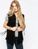 Blank NYC Fringe Benefits Sleeveless Shirt In Black