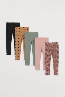H&M 5-Pack Jersey Leggings