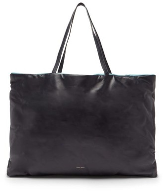 Mansur Gavriel Pillow Reversible Leather Tote Bag - Navy Multi