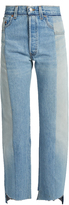 Vetements Reworked high-rise straight-leg jeans