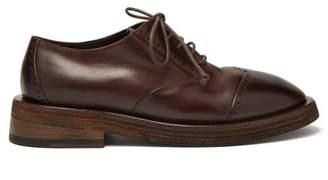 Marsèll Mentone Leather Brogue Derby Shoes - Mens - Brown