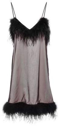 McQ Feather-trimmed Tulle Mini Dress