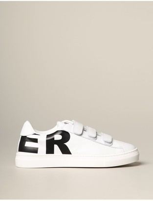 Moncler Leather Sneakers With Big Logo