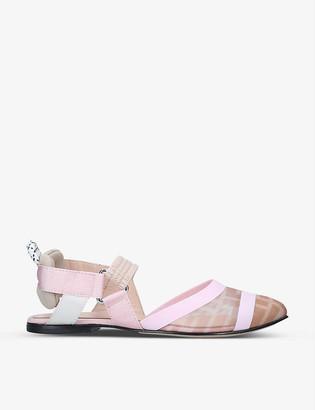 Fendi Colibri monogram-print point-toe shoes 7-9 years