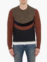 Maison Margiela Panelled Wool Sweater