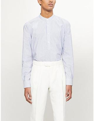 Sandro Striped modern-fit cotton-blend shirt
