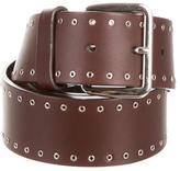 Jil Sander Leather Grommet-Embellished Belt