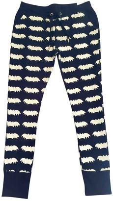 Zoe Karssen \N Black Cotton Trousers for Women