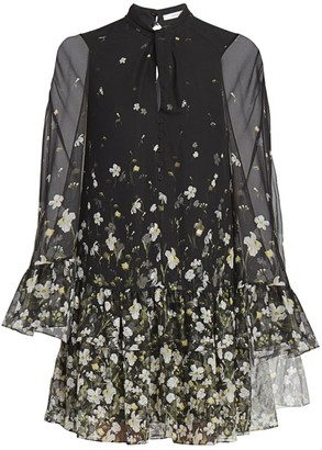 Erdem Concette Daffodil Ditsy Print Mini Dress