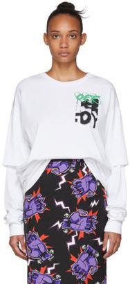 Off-White White Spray Blurred Long Sleeve T-Shirt
