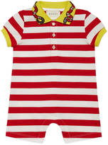 Gucci Baby striped sleepsuit with snake