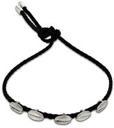 Luis Morais Sterling Silver Multi Cord Small Shell Bracelet