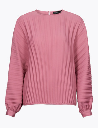 Marks and Spencer Pleated Long Sleeve Shell Top