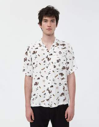 Carhartt Wip Club Pacific Button Up Shirt in Club Pacific Print/Wax