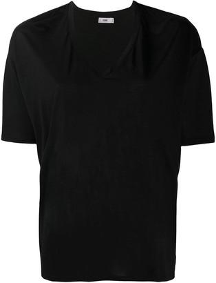 Closed V-Neck Jersey Knit Top
