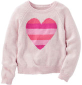 Osh Kosh Striped Heart Sweater
