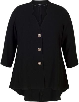 Chesca Notch Neck Crepe Jacket