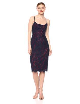 BCBGMAXAZRIA Azria Women's Strappy Lace Sheath Dress