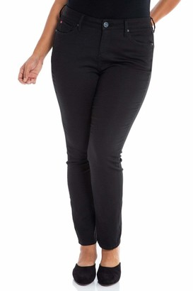 SLINK Jeans High Rise Slim Leg Pants in Forever Black Size 14